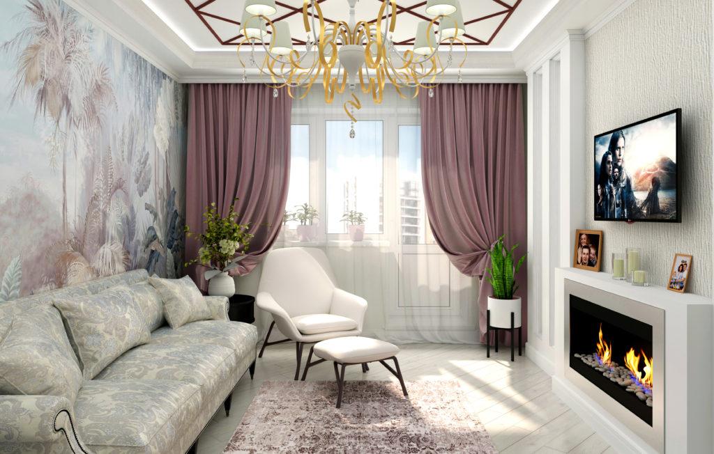 интерьер гостиной стиль ArtDeco