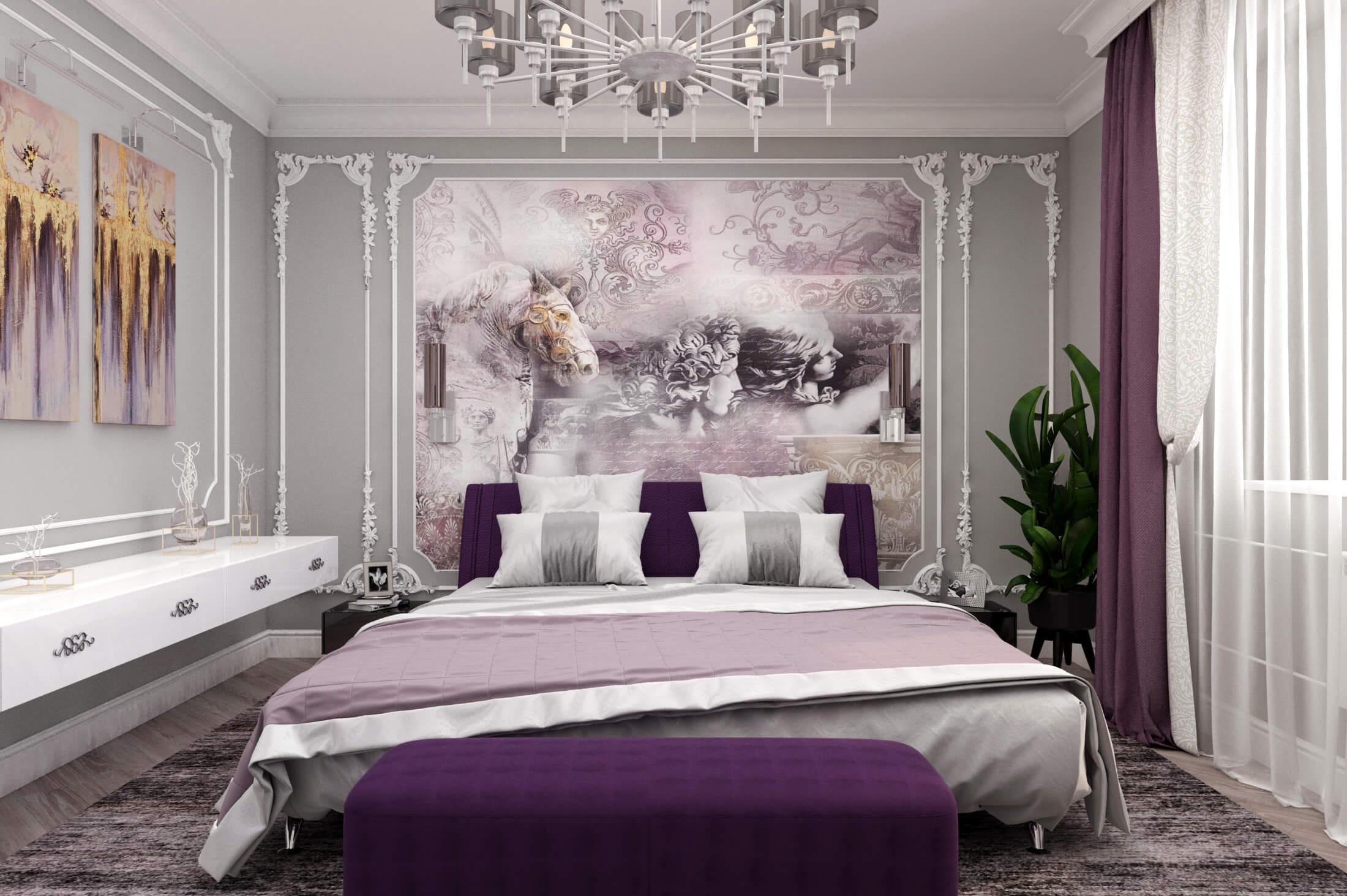 дизайн интерьера спальни в частном доме