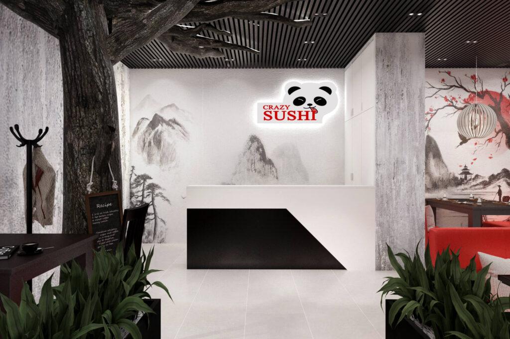 дизайн проект суши-бара